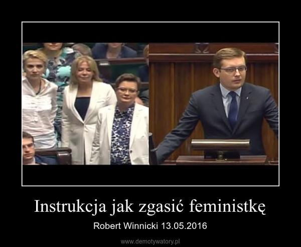 Instrukcja jak zgasić feministkę – Robert Winnicki 13.05.2016