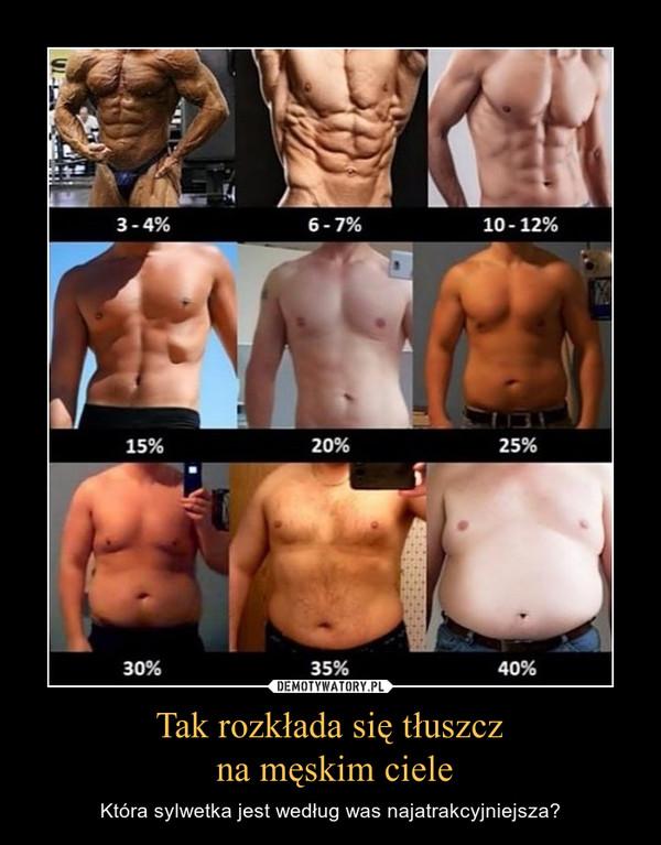 Tak rozkłada się tłuszcz na męskim ciele – Która sylwetka jest według was najatrakcyjniejsza?