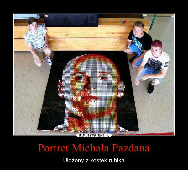Portret Michała Pazdana – Ułożony z kostek rubika