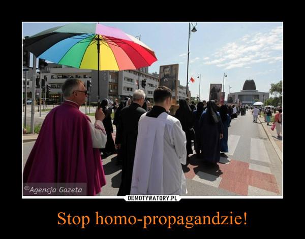 Stop homo-propagandzie! –