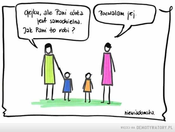 Pozwól dziecku na samodzielność –