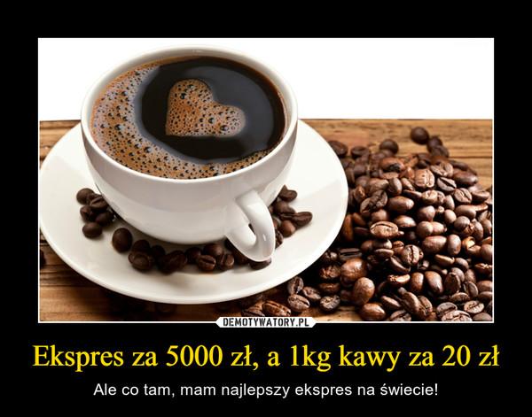 Ekspres za 5000 zł, a 1kg kawy za 20 zł – Ale co tam, mam najlepszy ekspres na świecie!