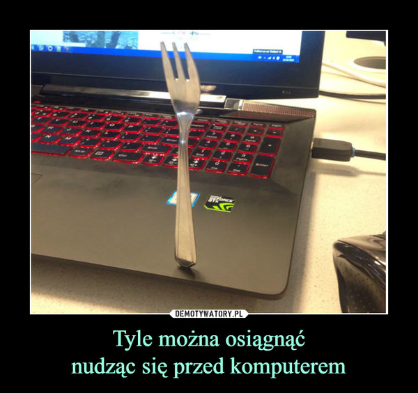 Tyle można osiągnąćnudząc się przed komputerem –