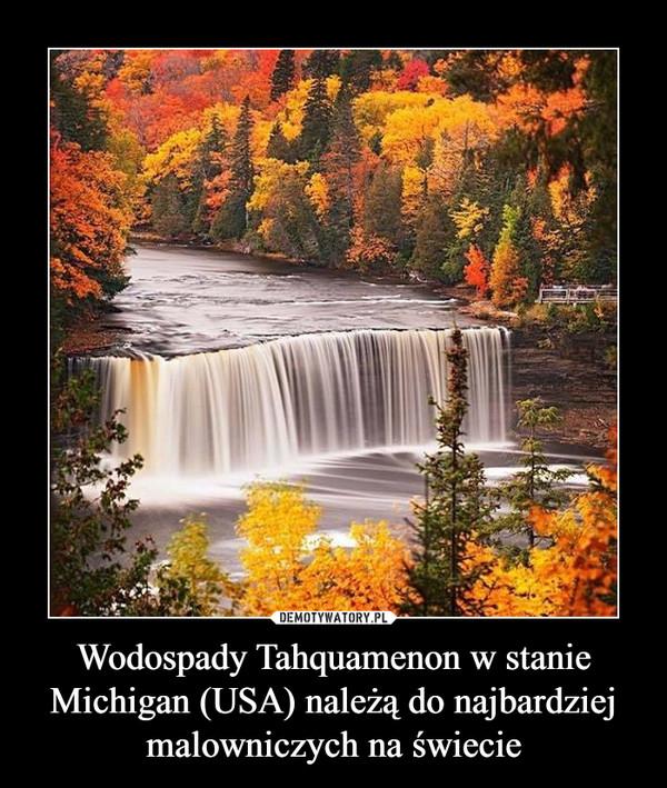 Wodospady Tahquamenon w stanie Michigan (USA) należą do najbardziej malowniczych na świecie –