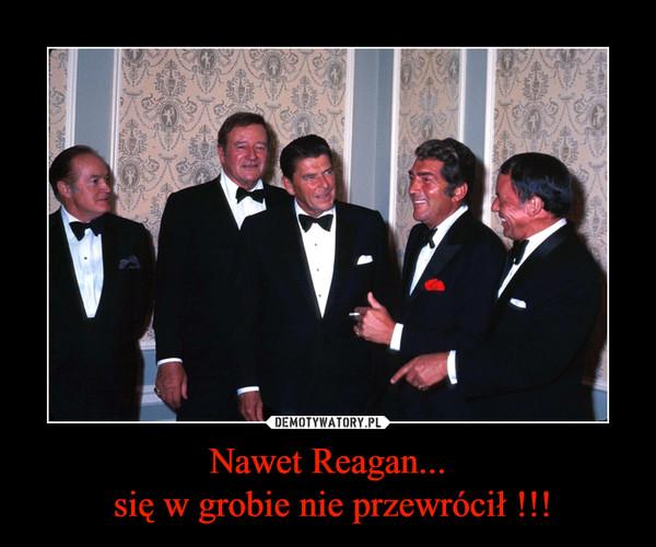Nawet Reagan... się w grobie nie przewrócił !!! –