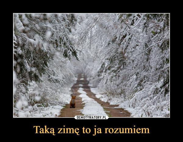 Taką zimę to ja rozumiem –