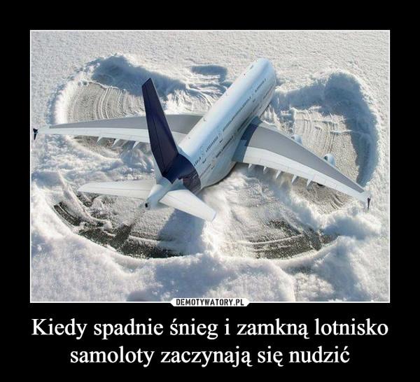 Kiedy spadnie śnieg i zamkną lotnisko samoloty zaczynają się nudzić –