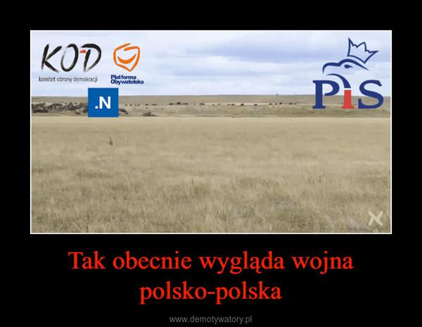 Tak obecnie wygląda wojna polsko-polska –