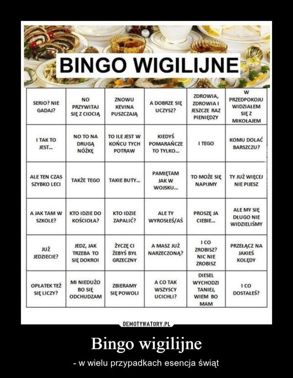 Bingo wigilijne – - w wielu przypadkach esencja świąt