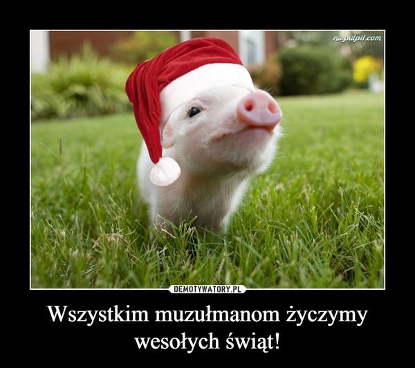 Wszystkim muzułmanom życzymy wesołych świąt! –