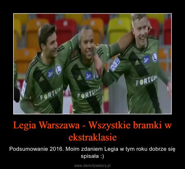 Legia Warszawa - Wszystkie bramki w ekstraklasie – Podsumowanie 2016. Moim zdaniem Legia w tym roku dobrze się spisała :)