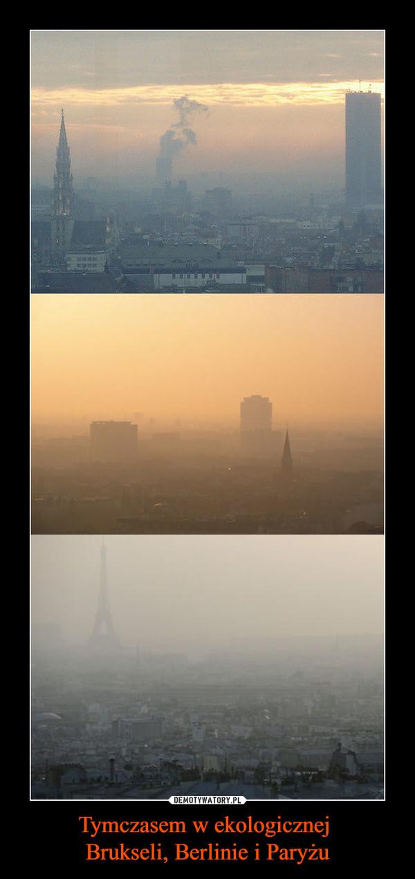 Tymczasem w ekologicznej Brukseli, Berlinie i Paryżu –