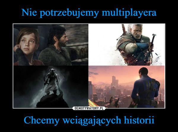 Chcemy wciągających historii –