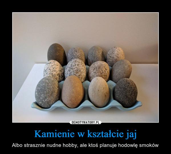Kamienie w kształcie jaj – Albo strasznie nudne hobby, ale ktoś planuje hodowlę smoków