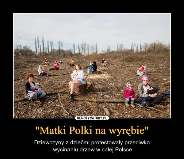 """""""Matki Polki na wyrębie"""" – Dziewczyny z dziećmi protestowały przeciwko wycinaniu drzew w całej Polsce"""