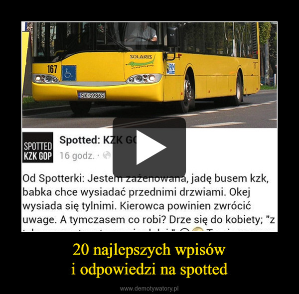 20 najlepszych wpisówi odpowiedzi na spotted –