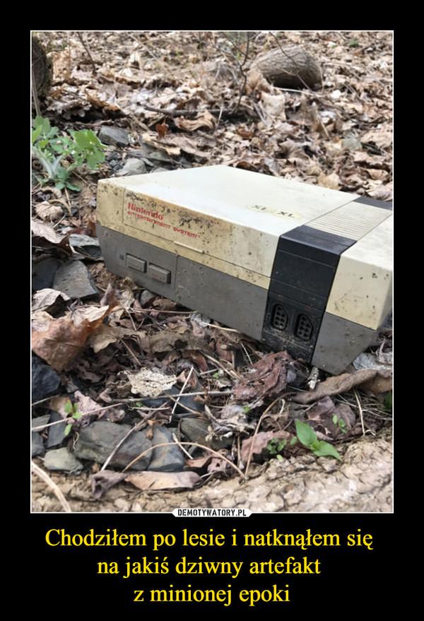 Chodziłem po lesie i natknąłem się na jakiś dziwny artefakt z minionej epoki –