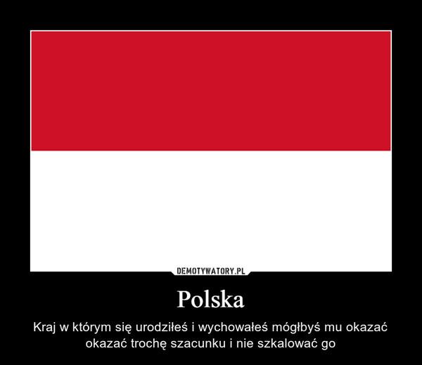 Polska – Kraj w którym się urodziłeś i wychowałeś mógłbyś mu okazać okazać trochę szacunku i nie szkalować go