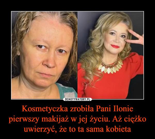 Kosmetyczka zrobiła Pani Ilonie pierwszy makijaż w jej życiu. Aż ciężko uwierzyć, że to ta sama kobieta –