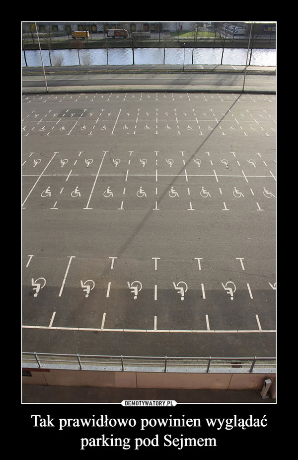 Tak prawidłowo powinien wyglądać parking pod Sejmem –