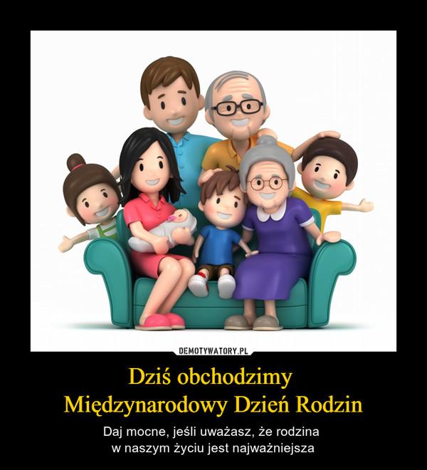 Dziś obchodzimy Międzynarodowy Dzień Rodzin – Daj mocne, jeśli uważasz, że rodzina w naszym życiu jest najważniejsza
