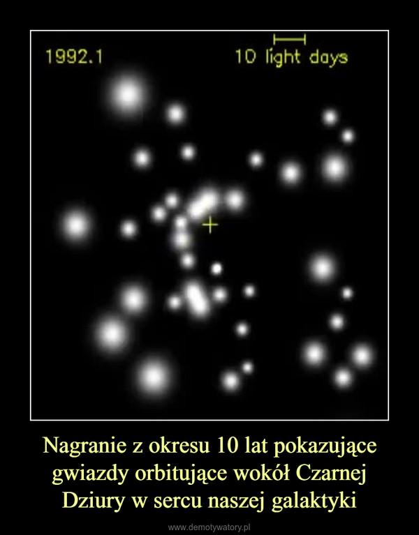 Nagranie z okresu 10 lat pokazujące gwiazdy orbitujące wokół Czarnej Dziury w sercu naszej galaktyki –