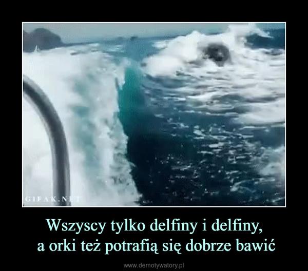 Wszyscy tylko delfiny i delfiny, a orki też potrafią się dobrze bawić –