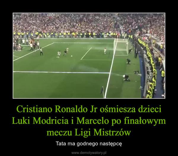 Cristiano Ronaldo Jr ośmiesza dzieci Luki Modricia i Marcelo po finałowym meczu Ligi Mistrzów – Tata ma godnego następcę