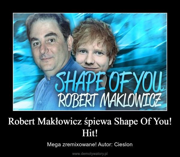 Robert Makłowicz śpiewa Shape Of You! Hit! – Mega zremixowane! Autor: Cieslon