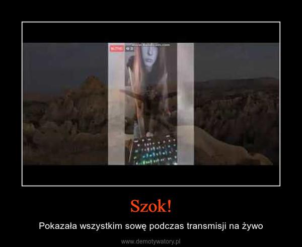 Szok! – Pokazała wszystkim sowę podczas transmisji na żywo