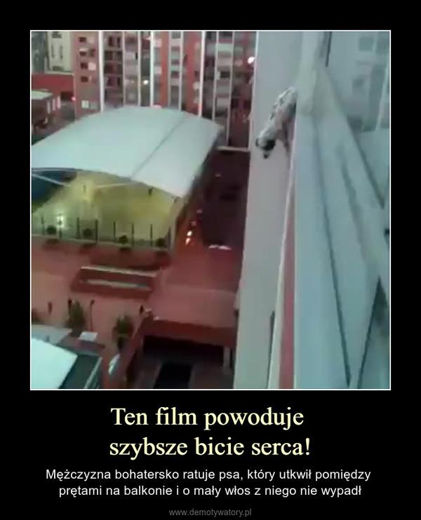 Ten film powoduje szybsze bicie serca! – Mężczyzna bohatersko ratuje psa, który utkwił pomiędzy prętami na balkonie i o mały włos z niego nie wypadł
