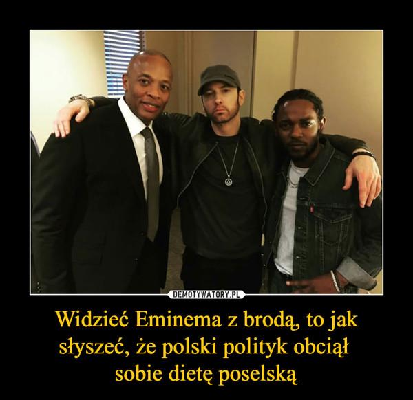 Widzieć Eminema z brodą, to jak słyszeć, że polski polityk obciął sobie dietę poselską –