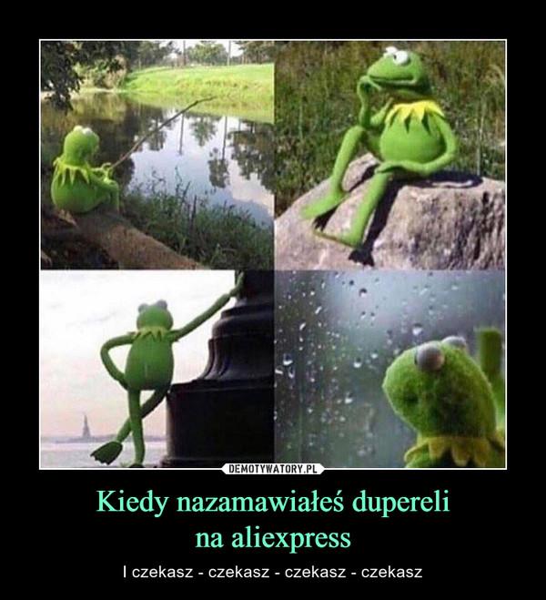 Kiedy nazamawiałeś duperelina aliexpress – I czekasz - czekasz - czekasz - czekasz