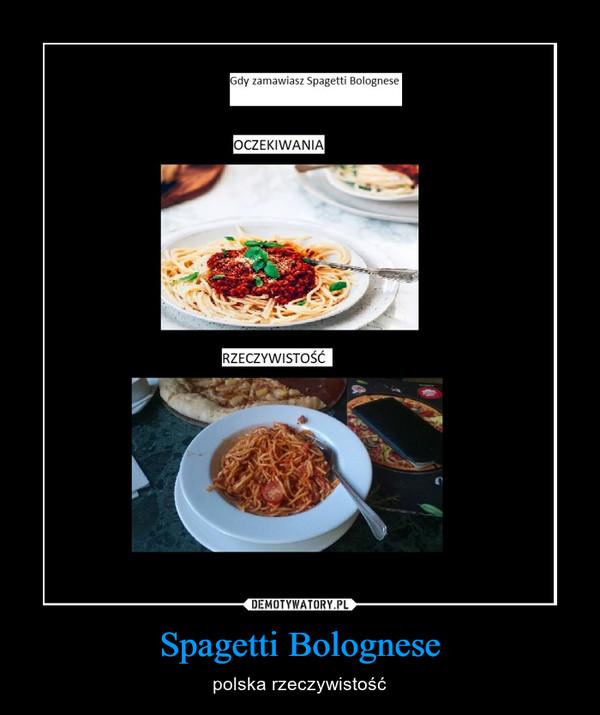 Spagetti Bolognese – polska rzeczywistość