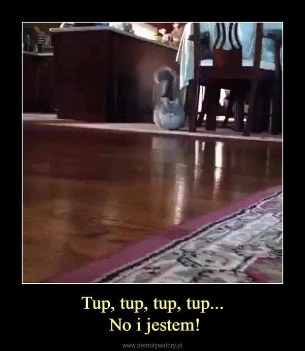 Tup, tup, tup, tup... No i jestem! –