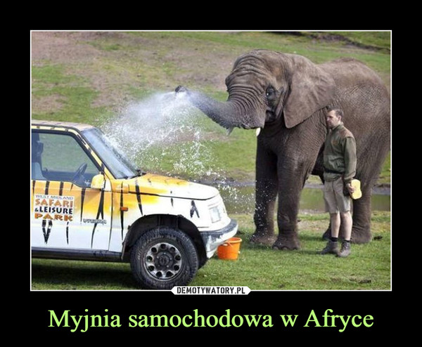 Myjnia samochodowa w Afryce –