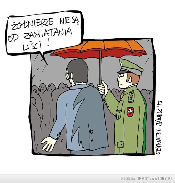 Żołnierze nie są od zamiatania liści –