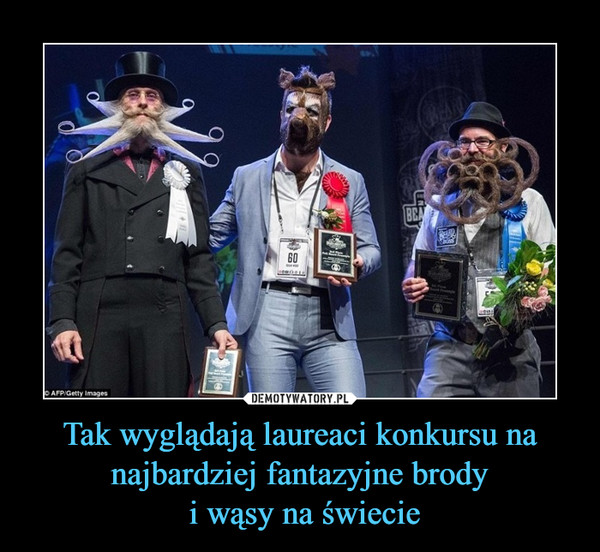 Tak wyglądają laureaci konkursu na najbardziej fantazyjne brody i wąsy na świecie –