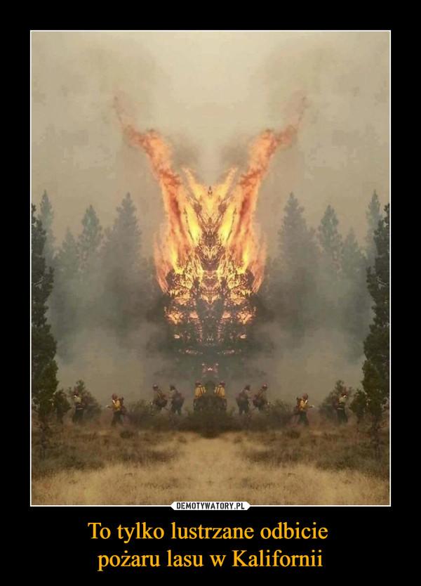 To tylko lustrzane odbicie pożaru lasu w Kalifornii –