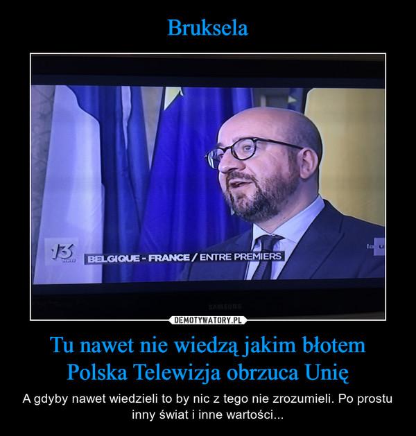 Tu nawet nie wiedzą jakim błotem Polska Telewizja obrzuca Unię – A gdyby nawet wiedzieli to by nic z tego nie zrozumieli. Po prostu inny świat i inne wartości...