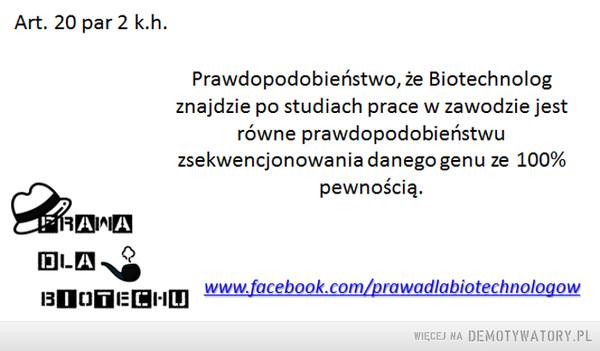 Prawa dla Biotechnologów –