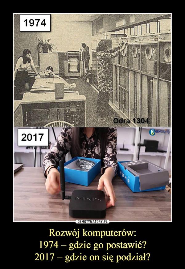 Rozwój komputerów:1974 – gdzie go postawić?2017 – gdzie on się podział? –