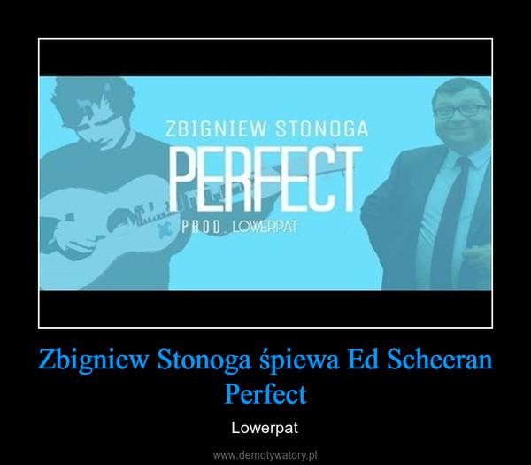 Zbigniew Stonoga śpiewa Ed Scheeran Perfect – Lowerpat
