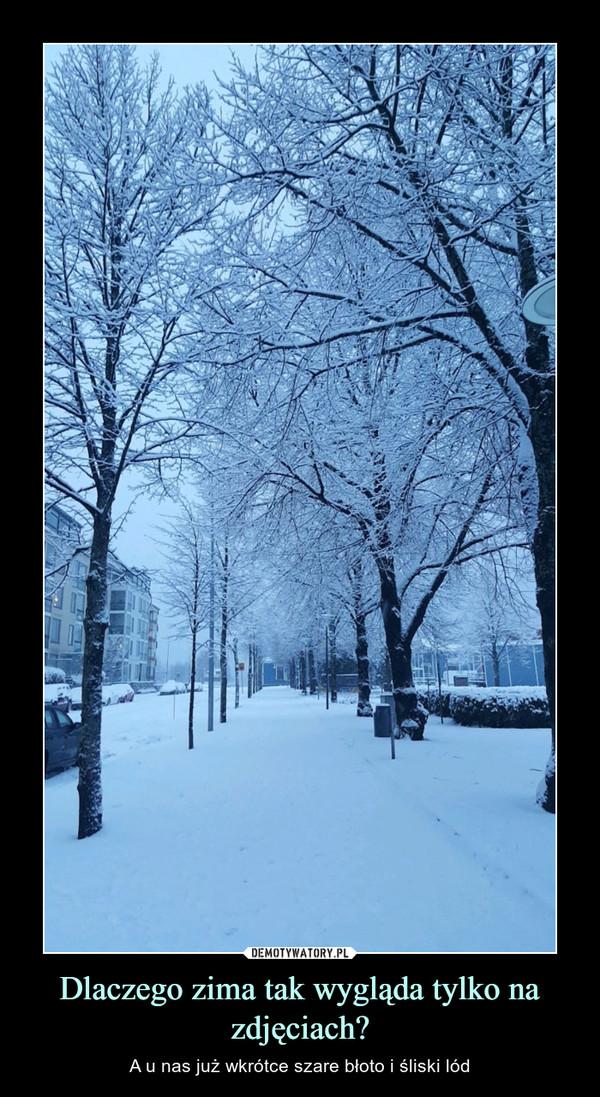 Dlaczego zima tak wygląda tylko na zdjęciach? – A u nas już wkrótce szare błoto i śliski lód