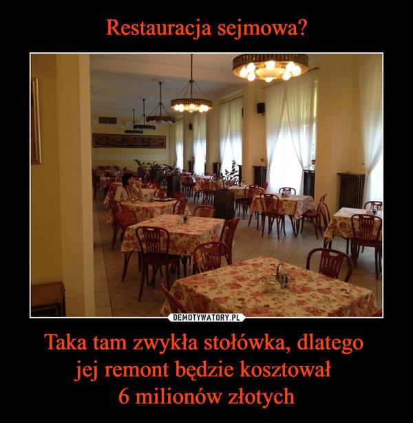 Taka tam zwykła stołówka, dlatego jej remont będzie kosztował 6 milionów złotych –