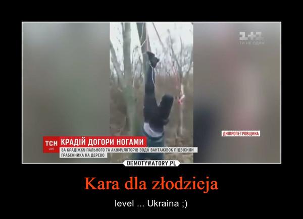 Kara dla złodzieja – level ... Ukraina ;)