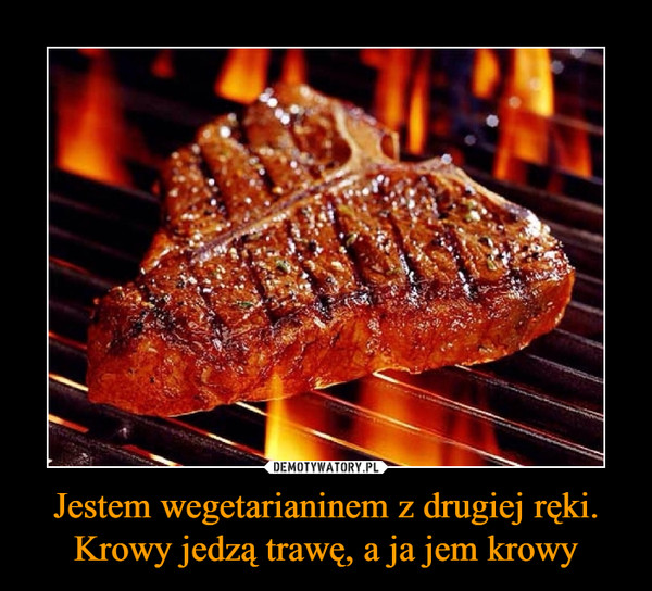 Jestem wegetarianinem z drugiej ręki. Krowy jedzą trawę, a ja jem krowy –