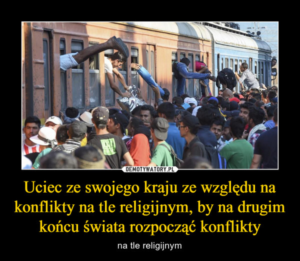 Uciec ze swojego kraju ze względu na konflikty na tle religijnym, by na drugim końcu świata rozpocząć konflikty – na tle religijnym