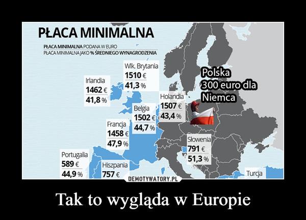 Tak to wygląda w Europie –
