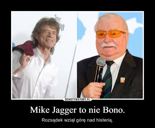 Mike Jagger to nie Bono. – Rozsądek wziął górę nad histerią.